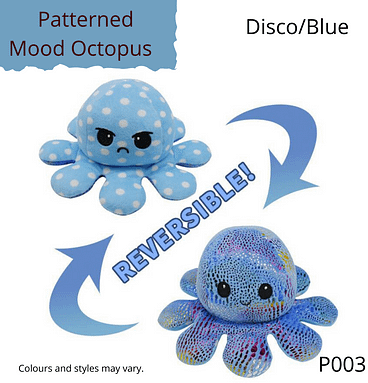 Disco/Blue Patterned Mood Octopus