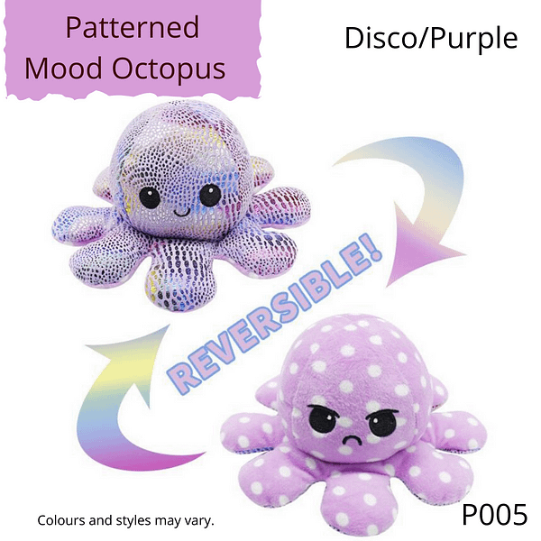 Disco/Purple Patterned Mood Octopus
