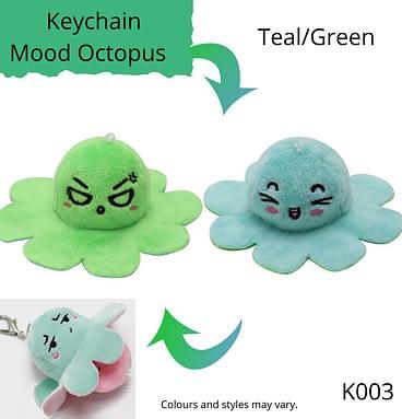 Teal/Green Keychain Mood Octopus