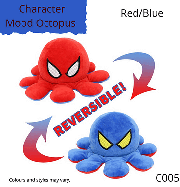 Red/Blue Character Mood Octopus