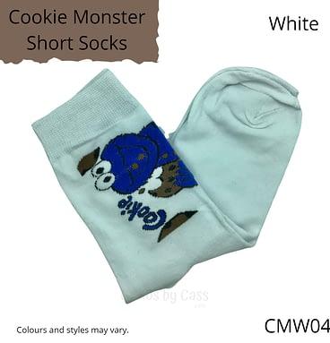 White Cookie Monster Socks