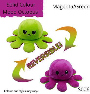 Magenta/Green Solid Colour Mood Octopus