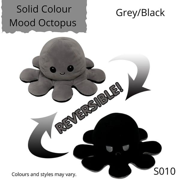 Grey/Black Solid Colour Mood Octopus