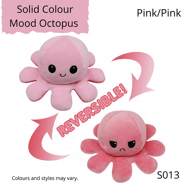 Ice Pink/Pink Solid Colour Mood Octopus