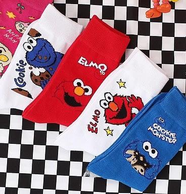 Elmo & Cookie Monster Socks