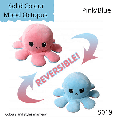 Pink/Blue Solid Colour Mood Octopus