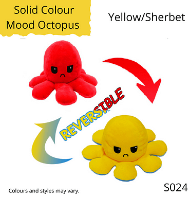 Yellow/Sherbet Solid Colour Mood Octopus