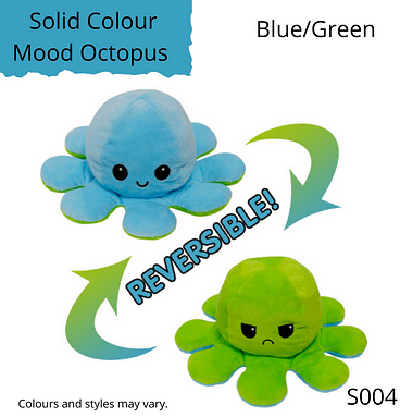 Blue/Green Solid Colour Mood Octopus