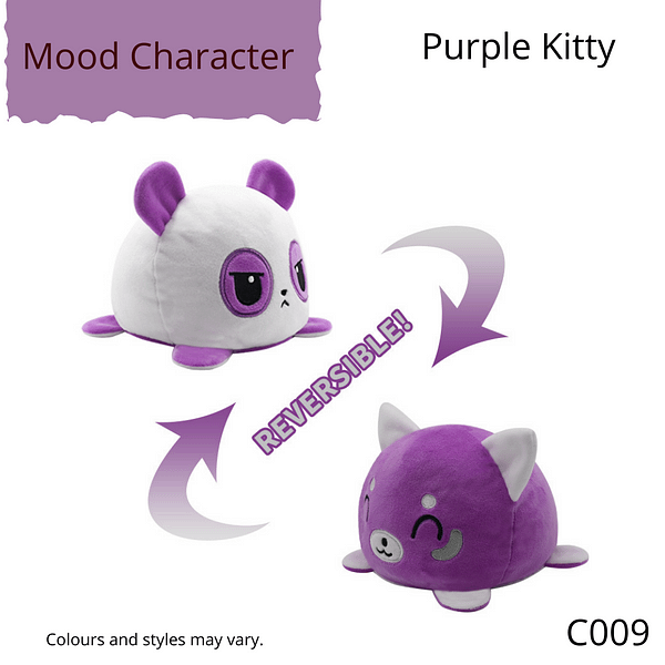 Purple Kitty Mood Character