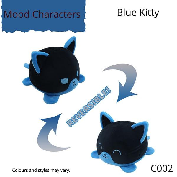 Blue Kitty Mood Character