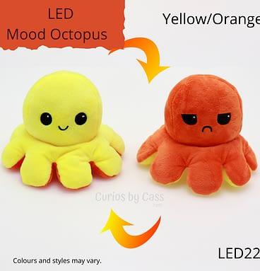 Yellow/Orange LED Light Up Mood Octopus