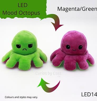 Magenta/Green LED Light Up Mood Octopus