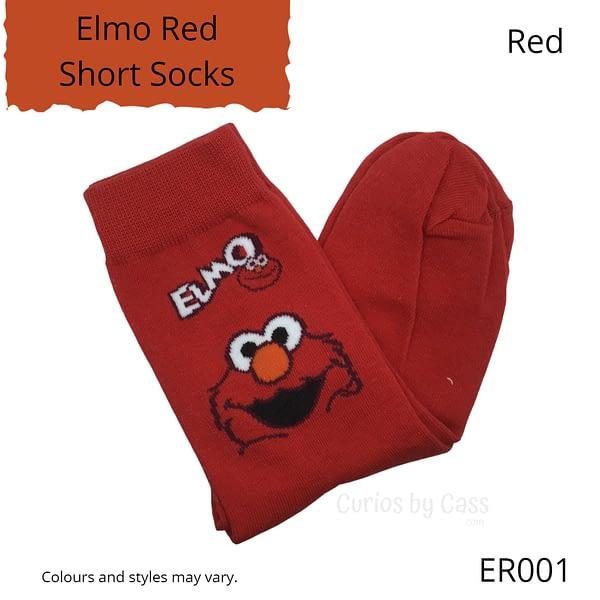 Red Elmo Short Socks