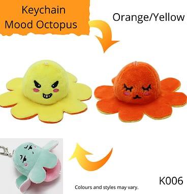 Orange/Yellow Keychain Mood Octopus