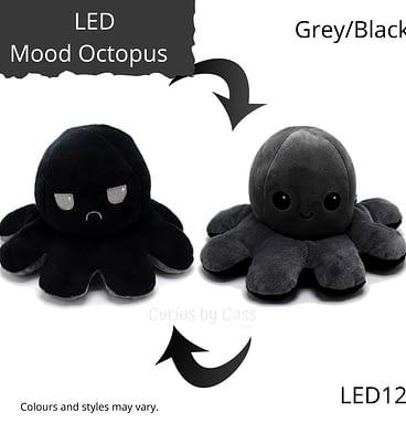 Grey/Black LED Light Up Mood Octopus