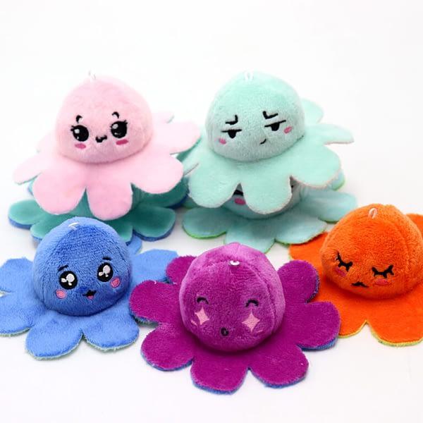 various mood octopus keychain