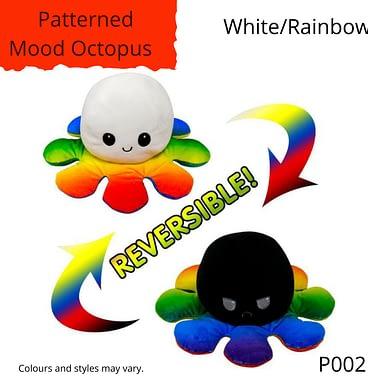 White/Rainbow Patterned Mood Octopus