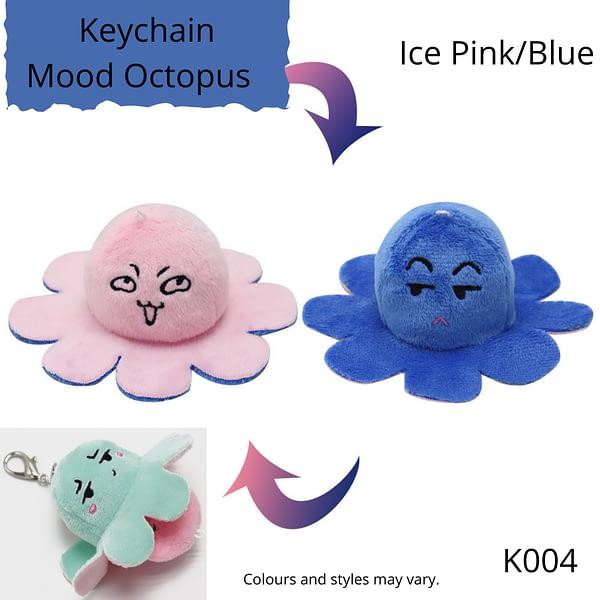 Ice Pink/Blue Keychain Mood Octopus