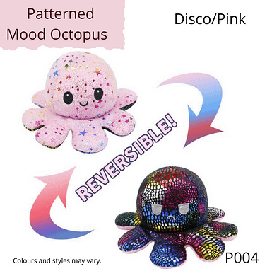 Disco/Pink Patterned Mood Octopus
