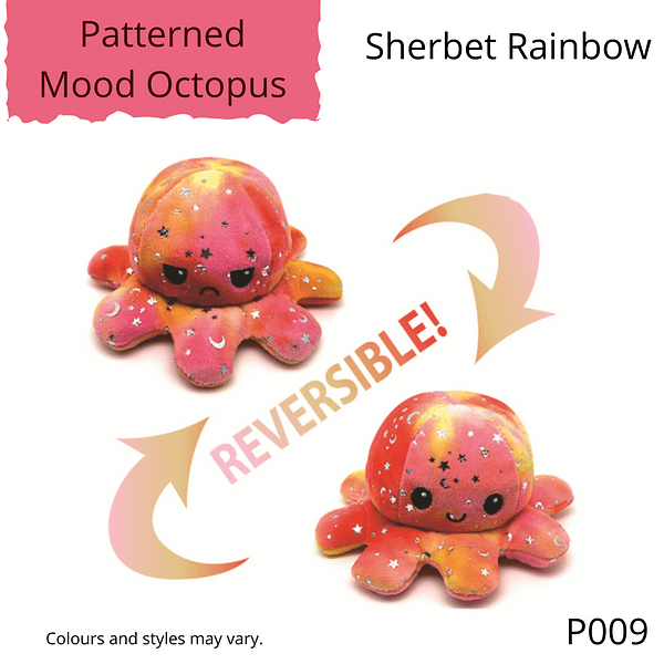 Sherbet Rainbow Patterned Mood Octopus