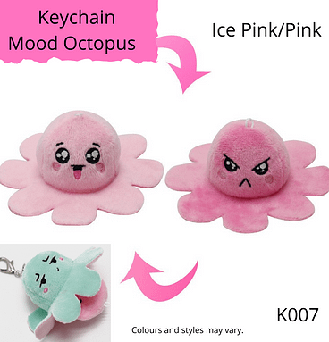 Ice Pink/Pink Keychain Mood Octopus