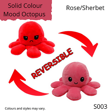 Rose/Sherbet Solid Colour Mood Octopus