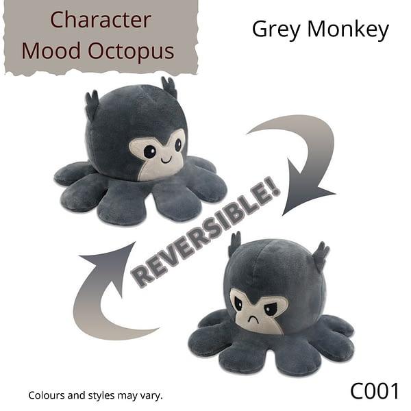 Grey Monkey Character Mood Octopus