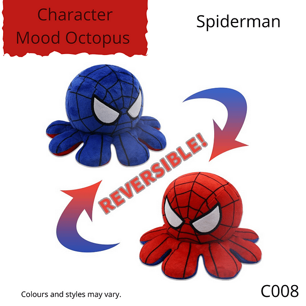 Spiderman Character Mood Octopus