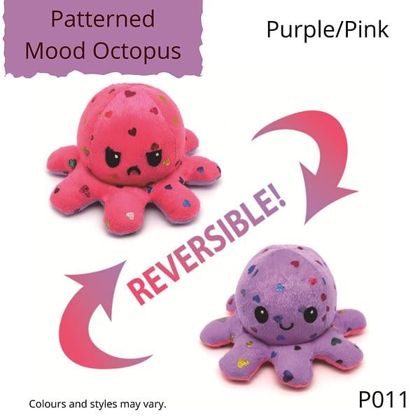 Purple/Pink Patterned Mood Octopus