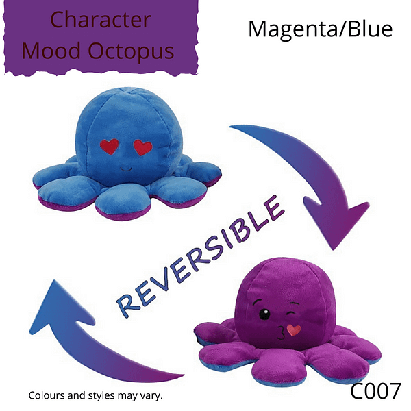 Magenta/Blue Character Mood Octopus