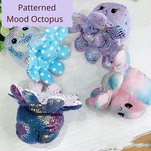 4 mood octopus in various colours