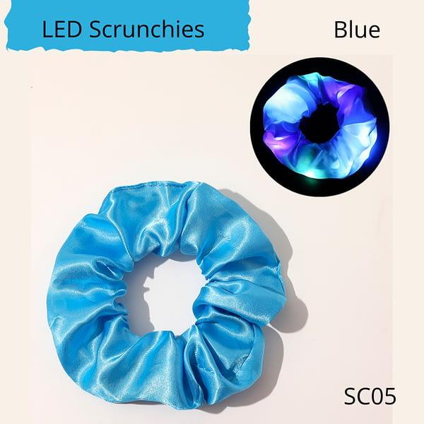 LED flashing hair scrunchie, blue colour