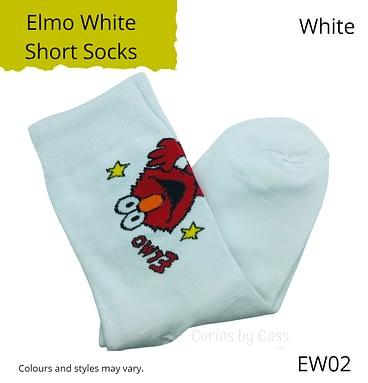 White Elmo Short Socks