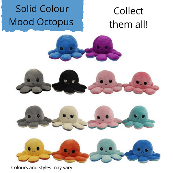 Display picture of several Solid Coloured Mood Octopus