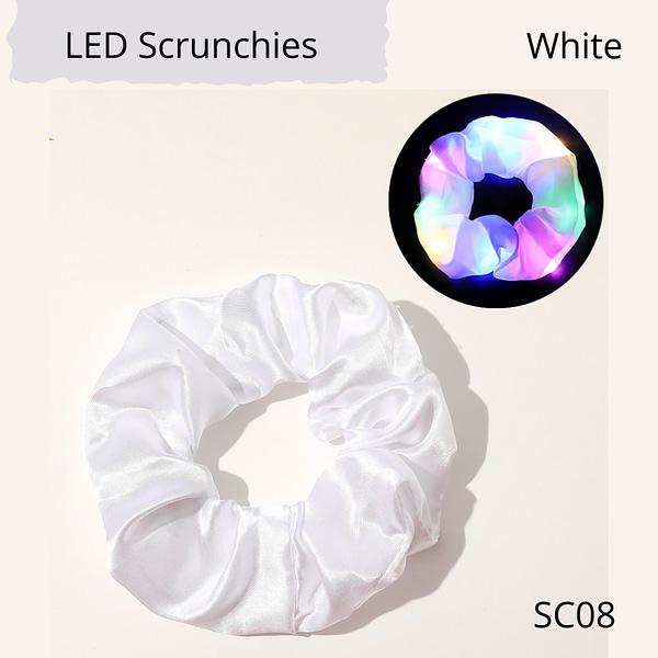 LED flashing hair scrunchie, white colour