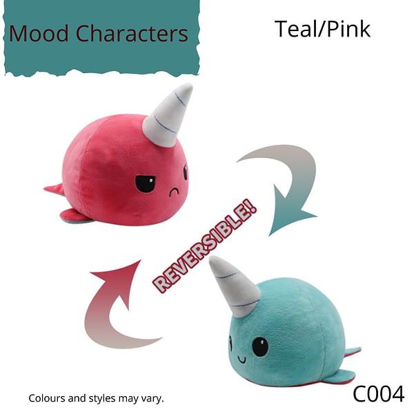 Teal/Pink Character Mood Characters