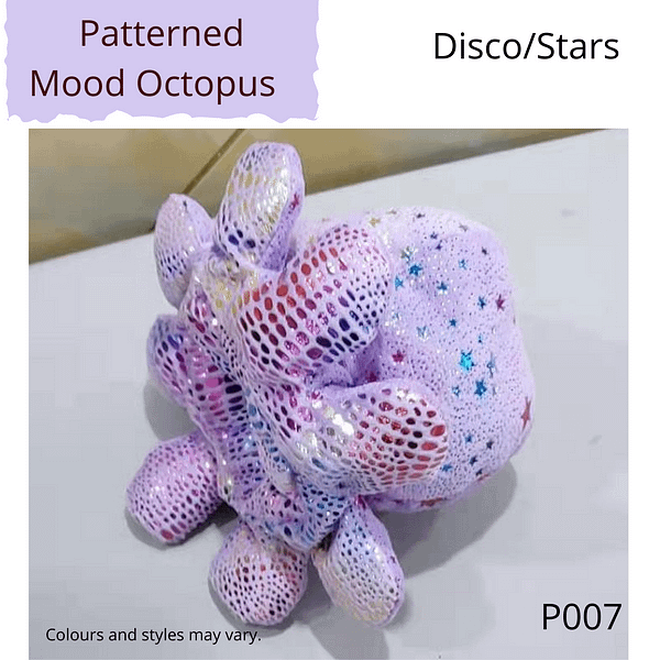 Disco/Stars Patterned Mood Octopus