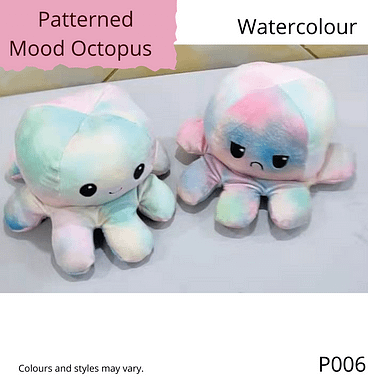 Watercolour Patterned Mood Octopus